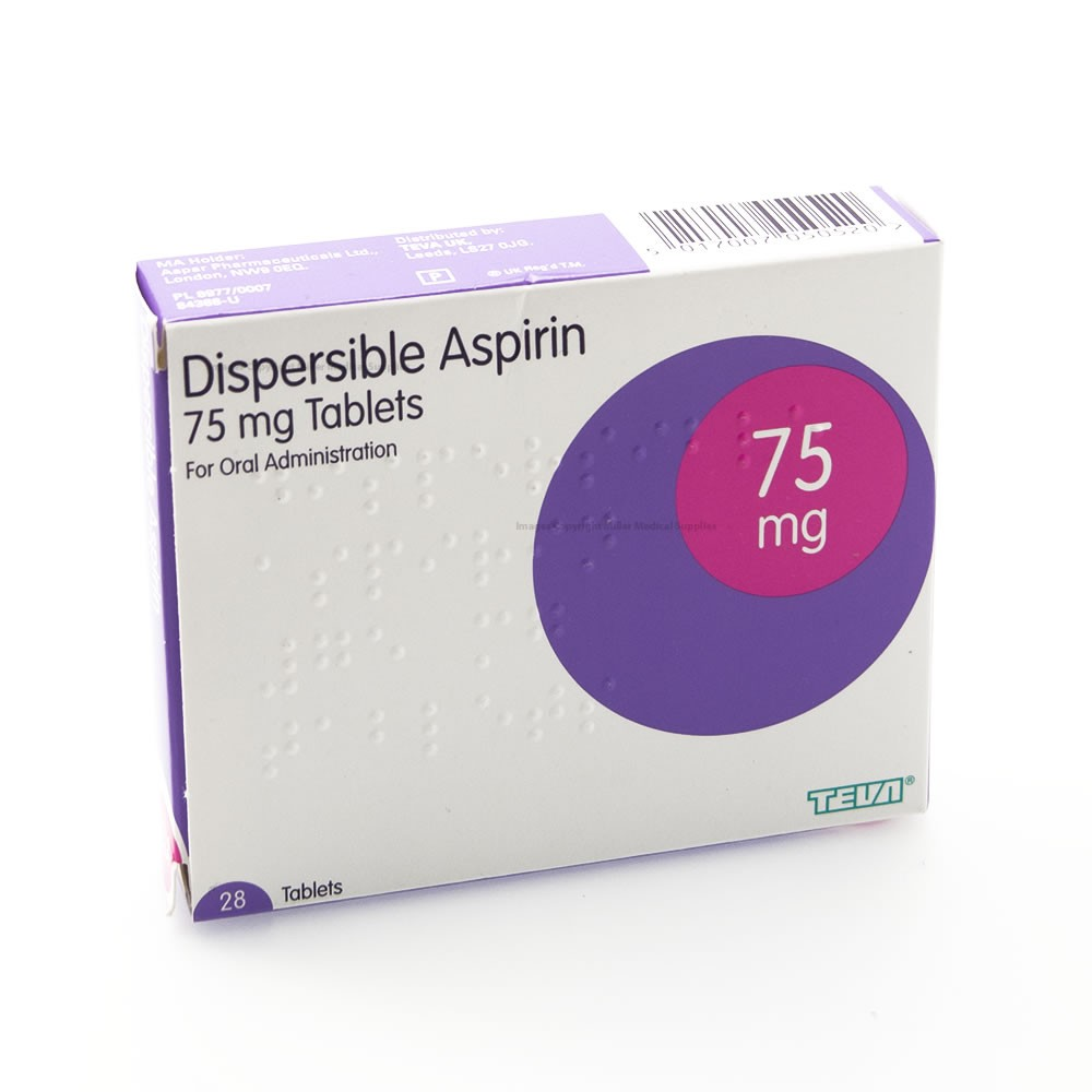 ASPIRIN DISPERSIBLE 75MG (28)