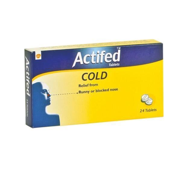 Actifed cold tablets