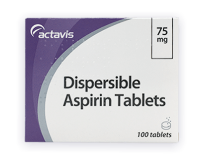 DISPERSIBLE ASPIRIN 75MG ACTAVIS