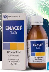 Enacef 125mg suspension